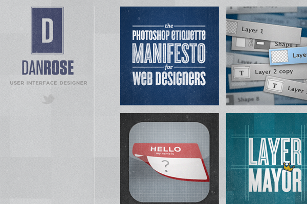 dan rose designer website portfolio