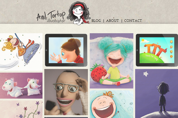 anil tortop illustrator designer website