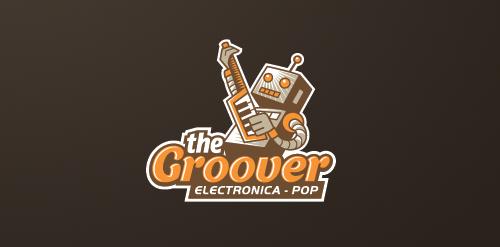 robot jam groover logo design inspiration