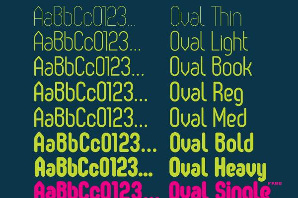 oval freebie font inspiration