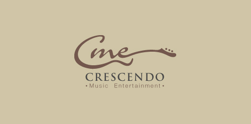 music logo inspiring design crescendo