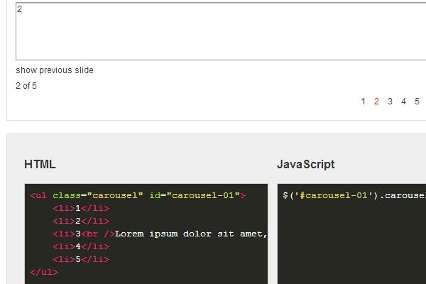 jquery carousel slider plugin open source