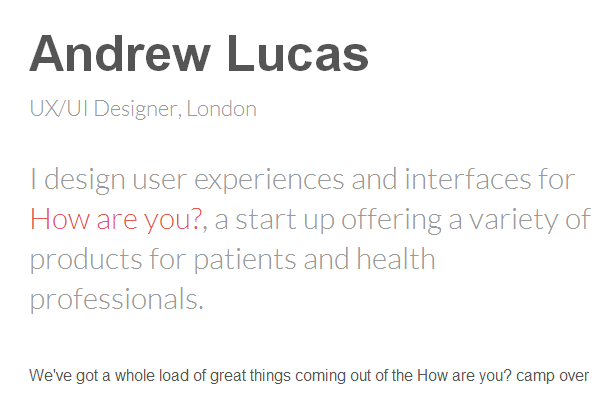 andrew lucas portfolio website andy layout