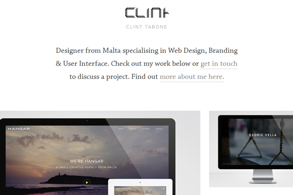 clint tabone website layout designer portfolio