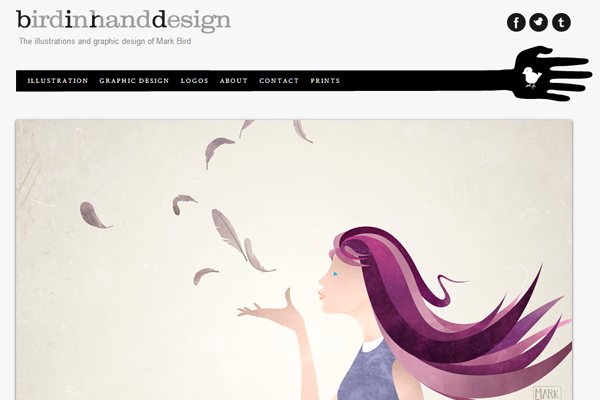 website portfolio layout mark bird illustrator