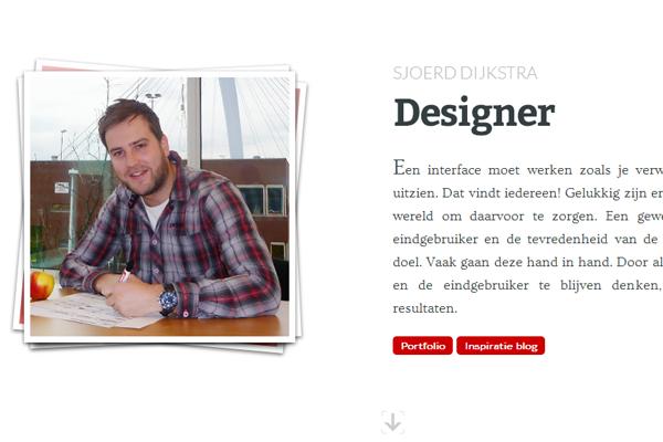 sjoerd dijkstra website portfolio layout design