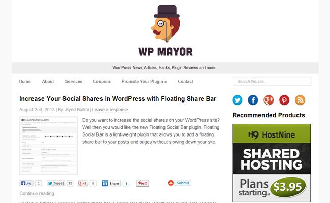 wordpress mayor website tips articles blog
