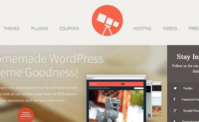 wordpress wp explorer website resource