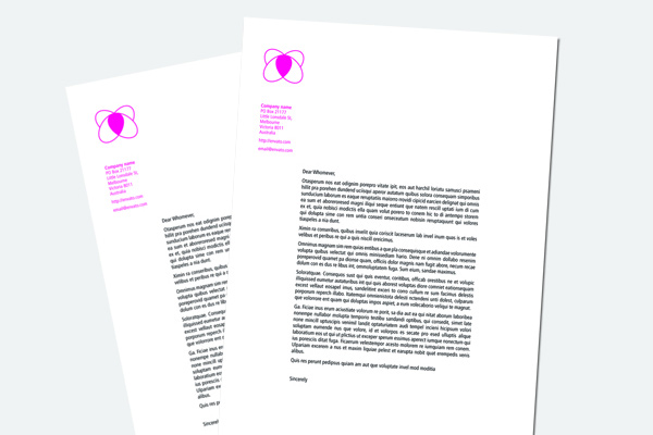 design a basic letterhead indesign cs5