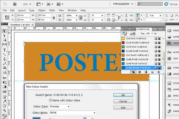 classic adobe indesign poster tutorial