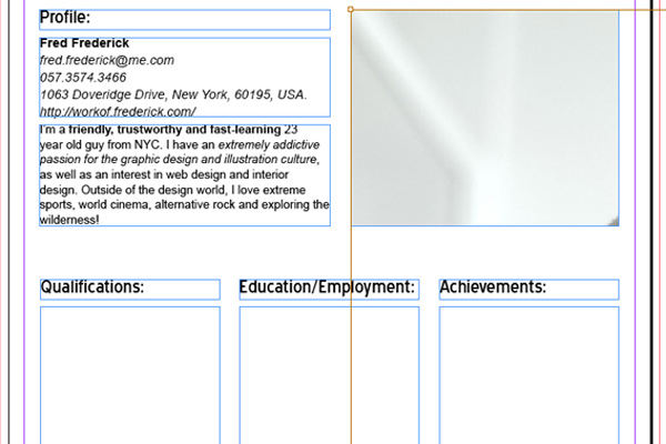 tutorial how to create cv resume with indesign