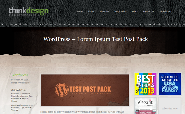 content filler wordpress pack loremipsum posts