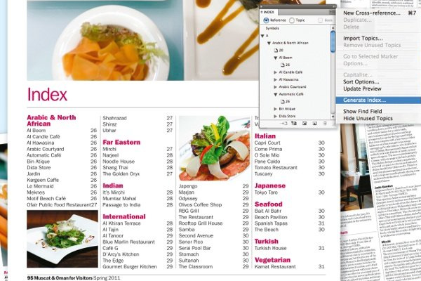 adobe indesign tutorial index howto create