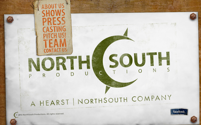 north south production company website layout