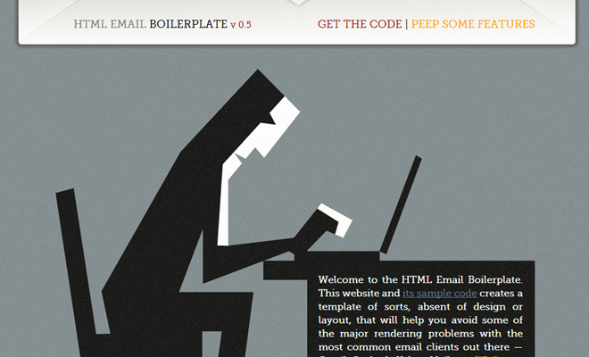 free open source html boilerplate homepage design