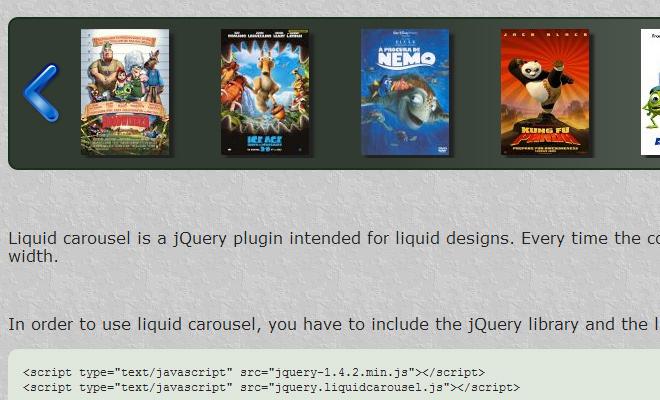 basic plugin carousel images rotator script jquery