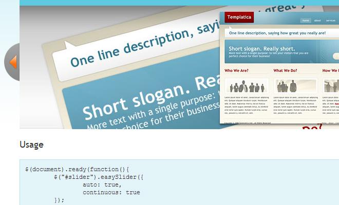 easy slider jquery v1.5 open source download