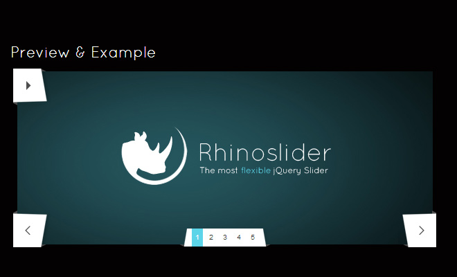 dark fancy jquery plugin rhino images rotation preview screenshot