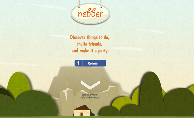 startup homepage nebber website layout design