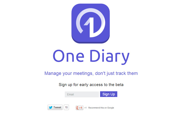 one diary homepage startup application iphone icon