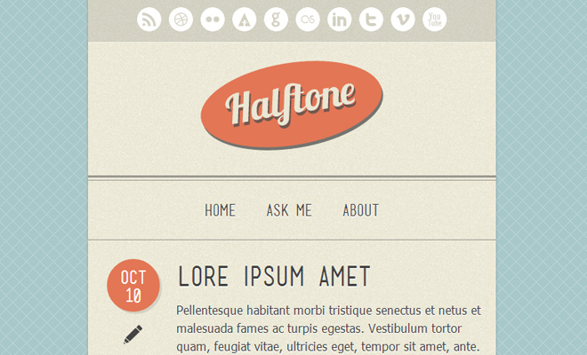 halftone texture tumblr blog theme
