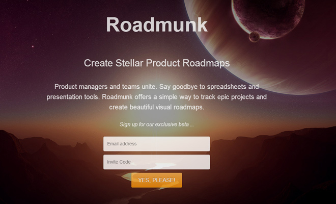 fullscreen background image roadmunk startup