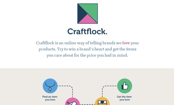 craftlock homepage startup flat icons inspiring design