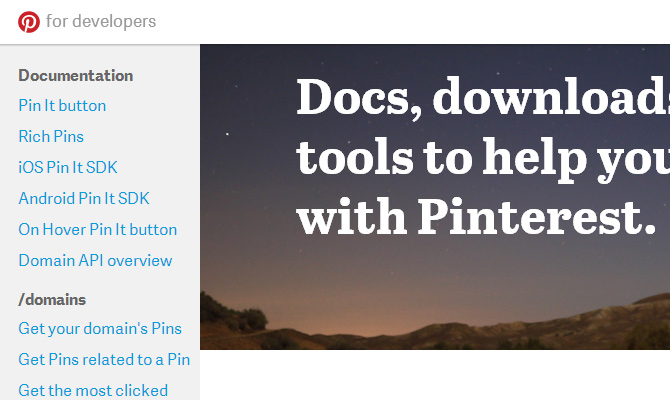 pinterest api howto tutorial development