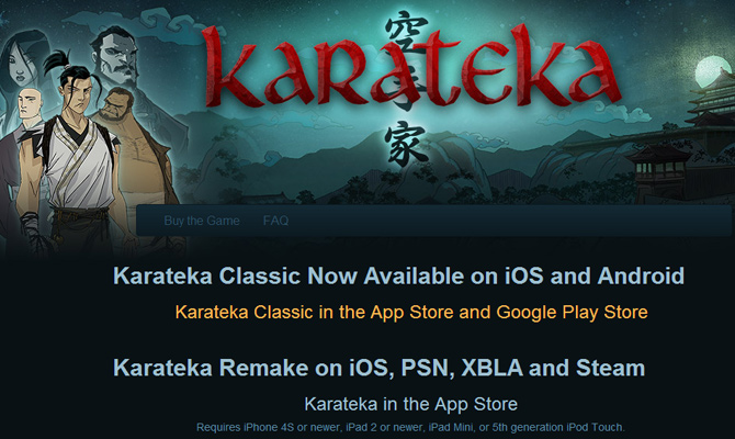 karateka 8bit classic mobile video game website