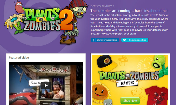 mobile ios game plants vs zombies website