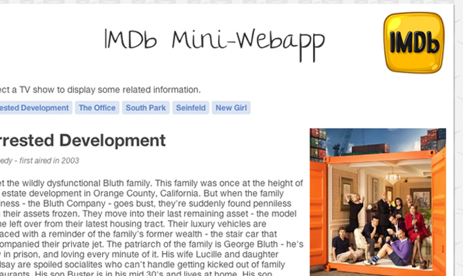 dynamic imdb webapp my movie api howto tutorial jquery