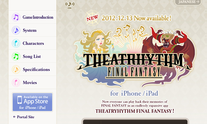 theatrhythm final fantasy square enix iphone ipad mobile game website