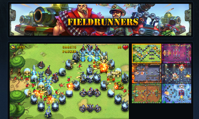 fieldrunners subatomic mobile app game website