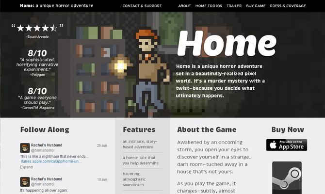 benjamin rivers horror adventure mobile game home website