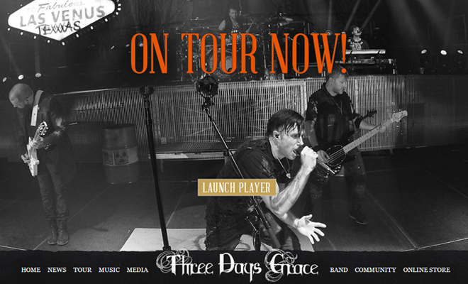 three days grace website homepage