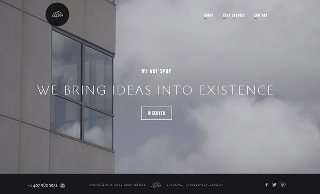 spry digital interactive agency website video bg