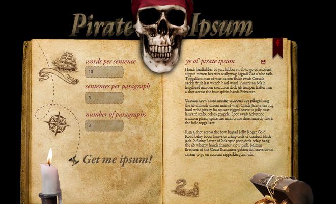 lorem ipsum generator pirate speech terms