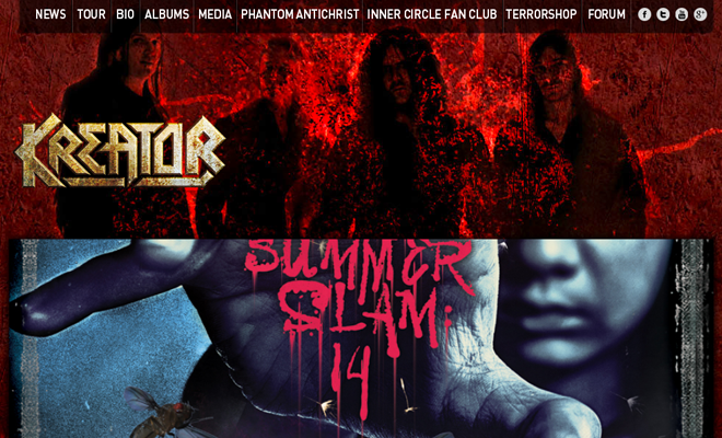 germany metal band kreator homepage website