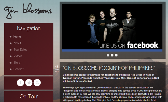 gin blossoms band website