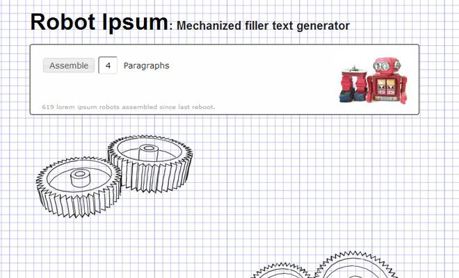 robot ipsum generator webapp website