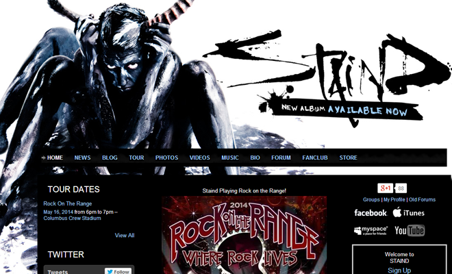 staind alternative rock band website