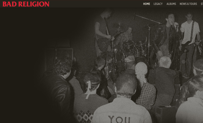 bad religion homepage band music website