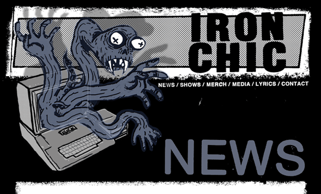 nyc iron chic rock band dark website design