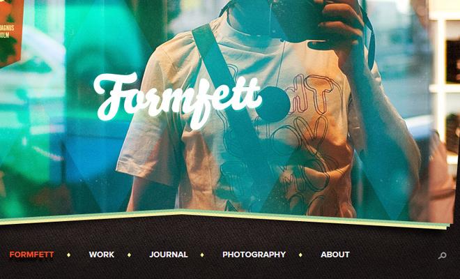 formfett dark navigation menu design