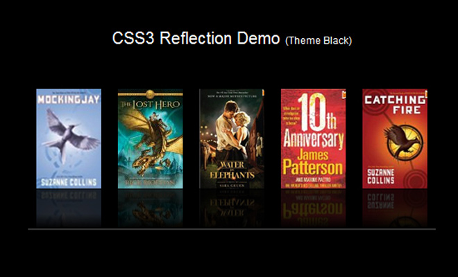 tutorial howto code css3 reflection effect