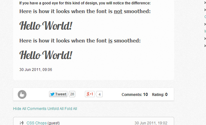 css3 alias font design typography howto