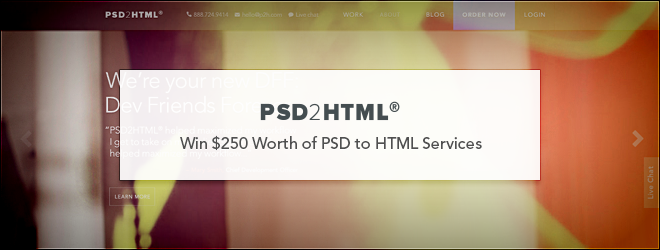 PSD2HTML Giveaway
