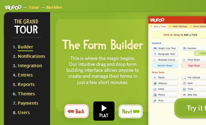 wufoo tour website breadcrumbs navigation ui