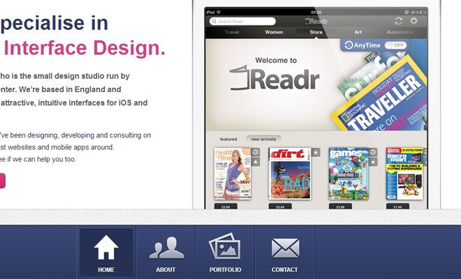 you know who design navigation menu ui
