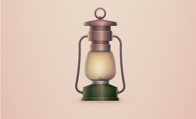 vintage camping lantern adobe illustrator tutorial